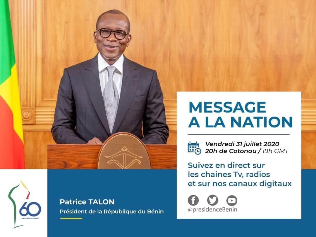 Le Bénin célèbre son 60 ème anniversaire de l'indépendance  : L'intégralité du message du chef de l'état à la nation.