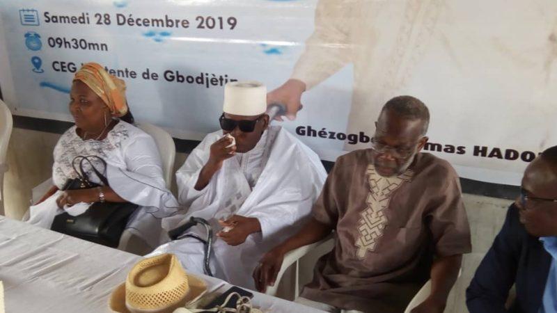 le livre autobiographique de Thomas Guézogbé HADONOU : Une icône du développement local réussi est lancé.